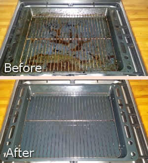 Before and After Hob Cleaning